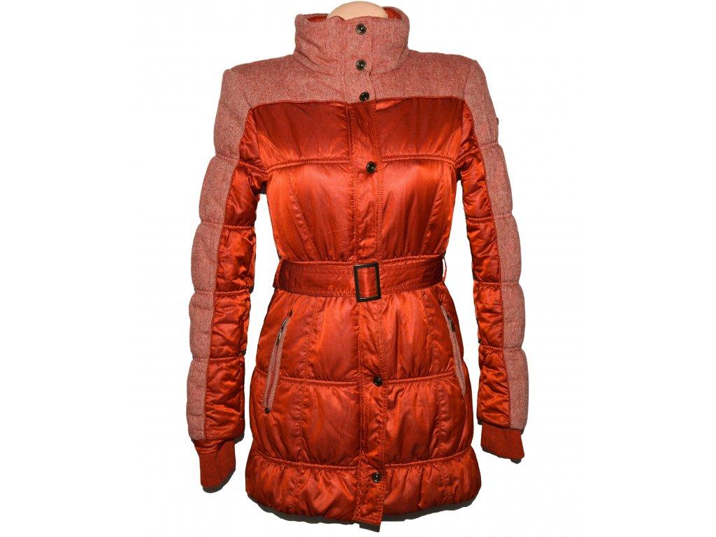 Dámský cihlový šusťákový kabát s páskem TIMEOUT M