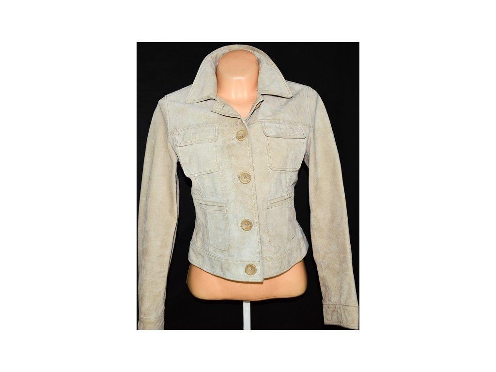 KOŽENÁ dámská béžová bunda MarksSpencer 2