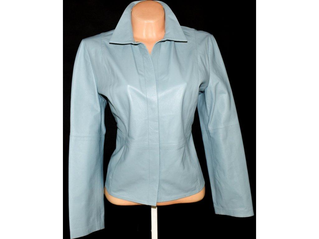 KOŽENÁ dámská měkká modrá bunda Marks&Spencer UK 14/ L