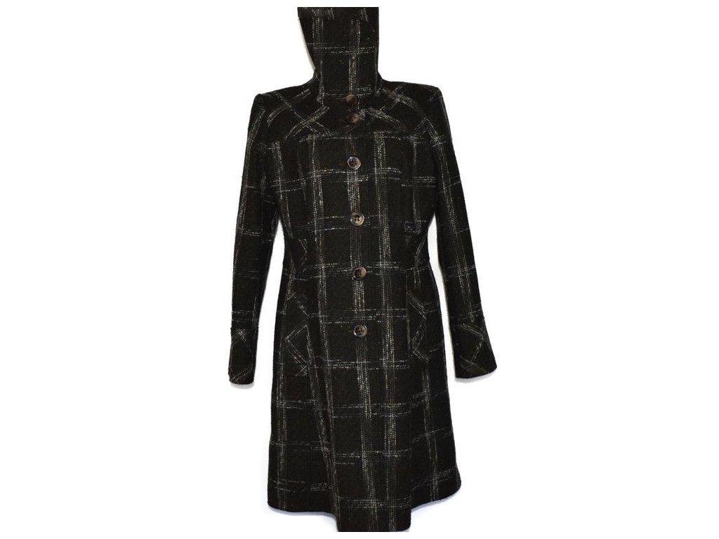 Vlněný dámský kostkovaný dlouhý kabát F&F XXL