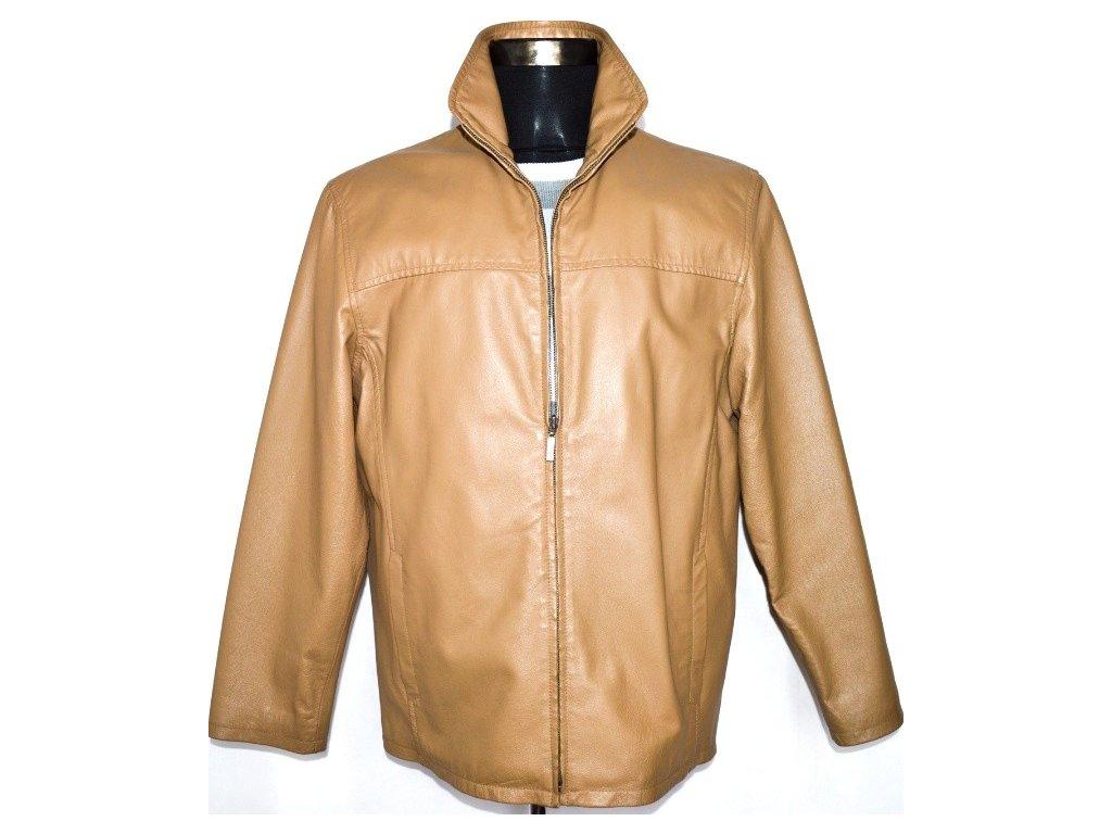 KOŽENÁ pánská hnědá bunda na zip Angelo Litrico vel. M