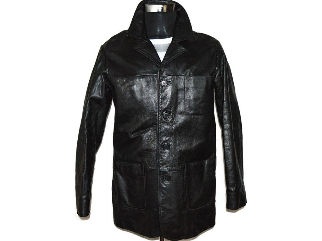 KOŽENÁ pánská černá bunda vel. M