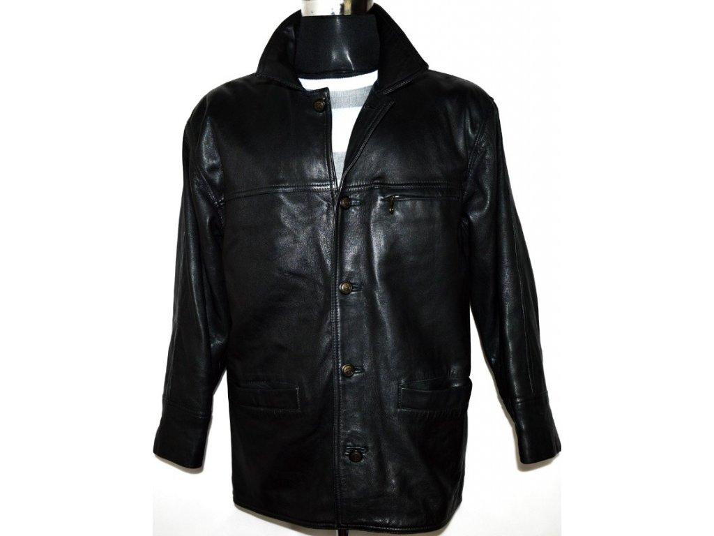 KOŽENÁ pánská měkká černá bunda SAVANNAH M