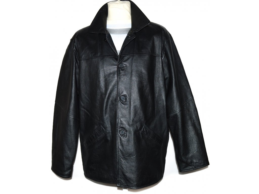 KOŽENÁ pánská černá bunda RoyRene