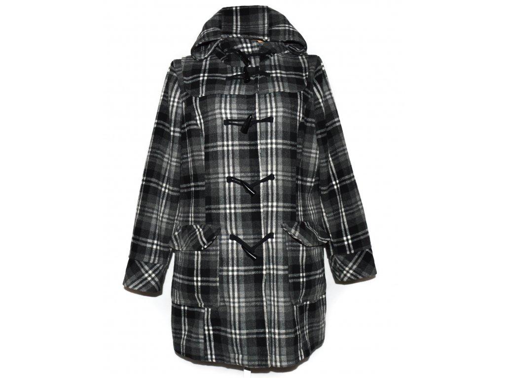 Dámský károvaný kabát s kapucí C&A XXL