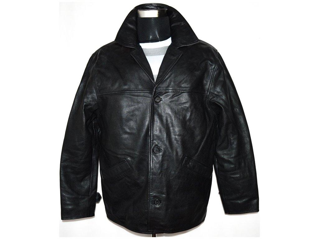 KOŽENÁ pánská černá bunda vel. L 2