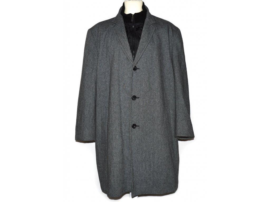 Vlněný pánský šedý kabát C&A  XXL
