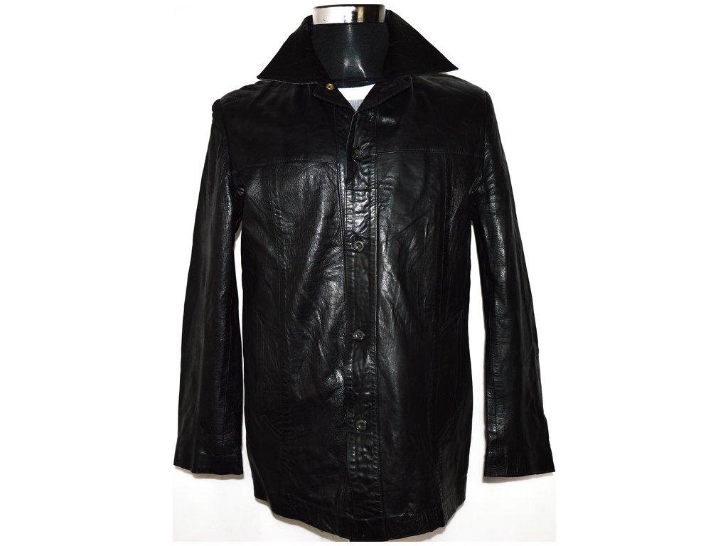 KOŽENÁ pánská černá bunda GENERAL LEATHER LONDON S/M