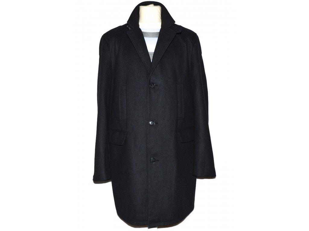 Vlněný (70%) pánský šedočerný kabát Luigi Morini L 2