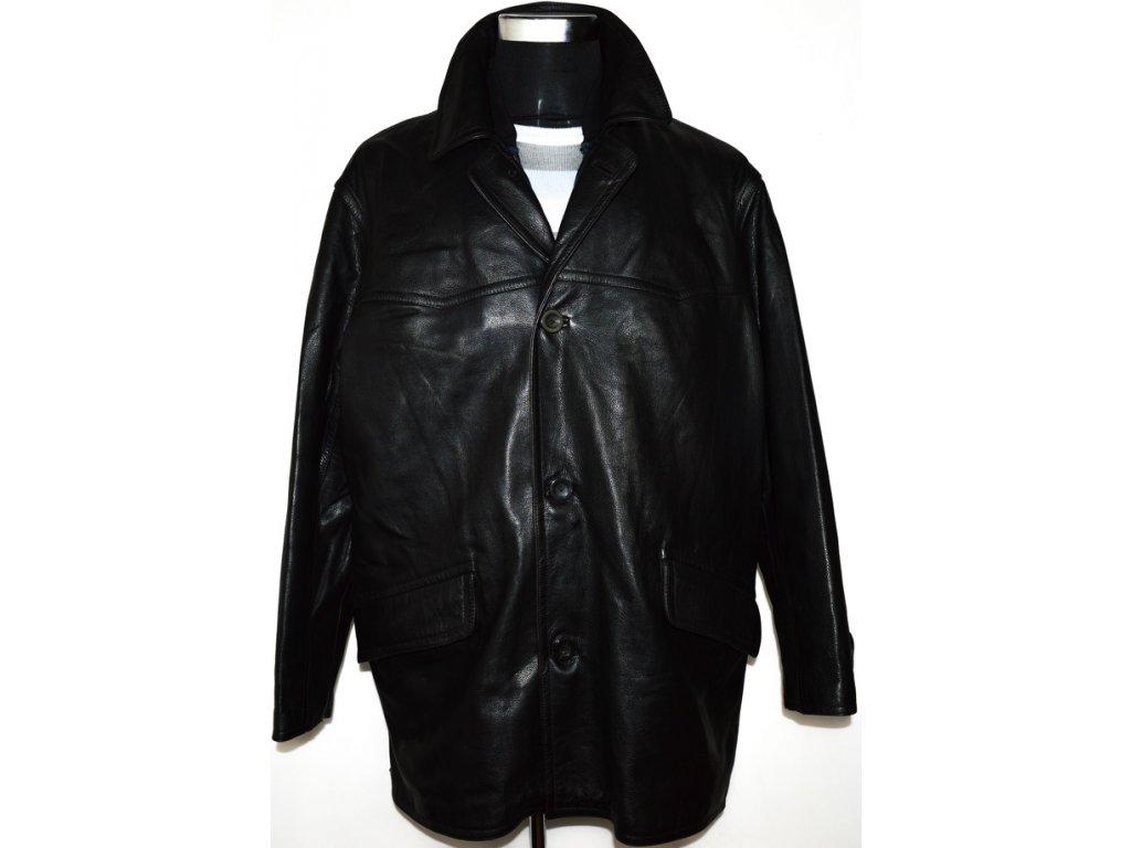 KOŽENÁ pánská černá měkká bunda s odnimatelnou vložkou XLi