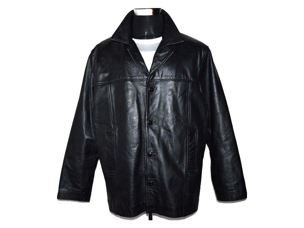KOŽENÁ pánská černá bunda AKASO vel. XL