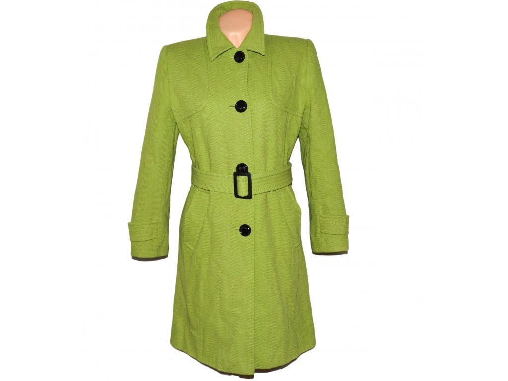 Dámský zelený kabát s páskem L