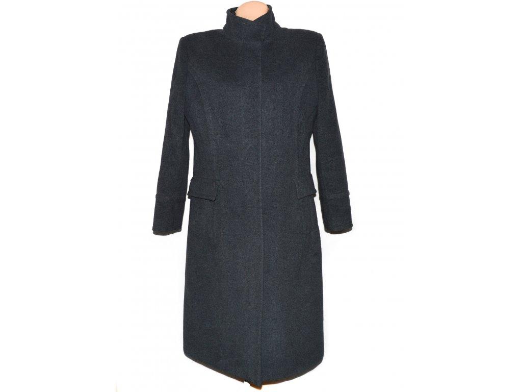 Vlněný (70%) dámský dlouhý šedý kabát MAXIMA (vlna, kašmír) XL