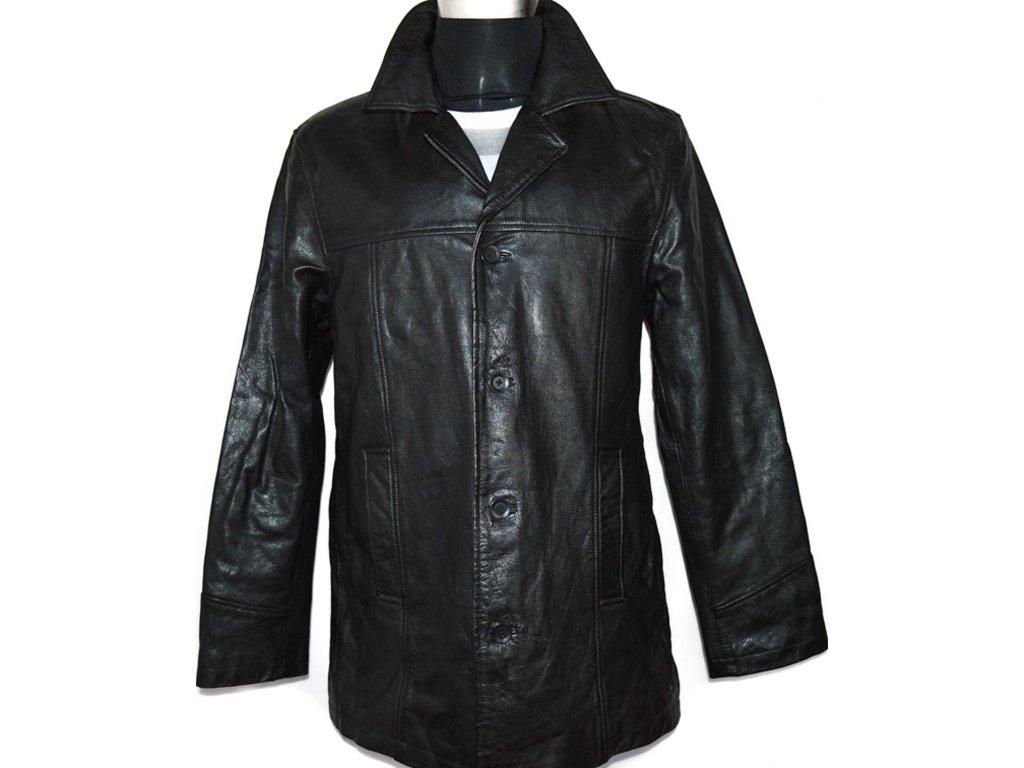 KOŽENÁ pánská černá zateplená bunda vel. L