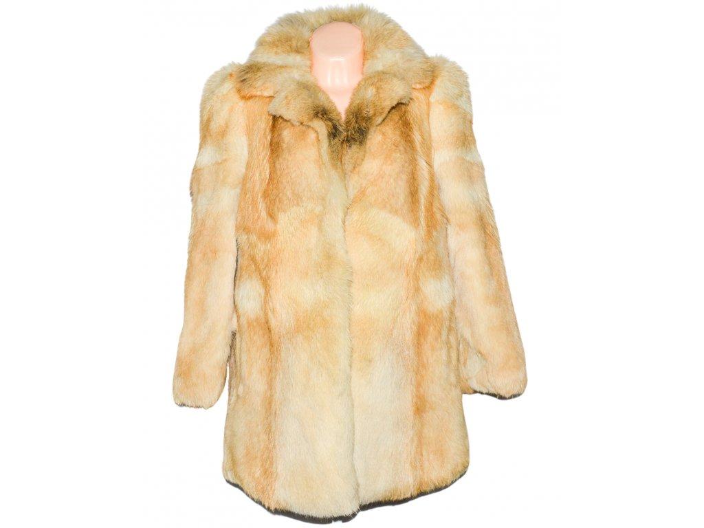 PRAVÝ dámský béžový kožich na knoflíky XL