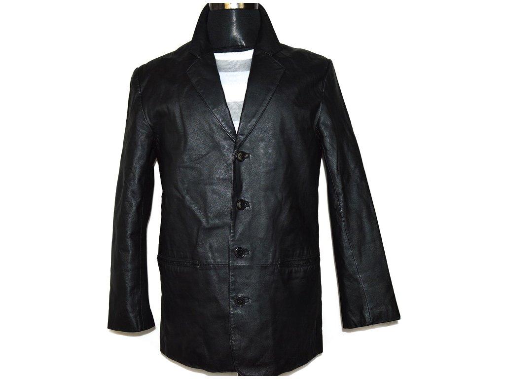 KOŽENÉ pánské černé sako FOR MEN 3