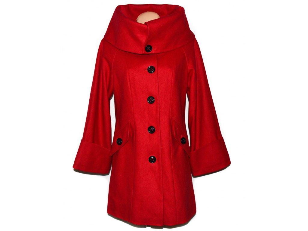 Vlněný (60%) dámský červený kabát Marks&Spencer L