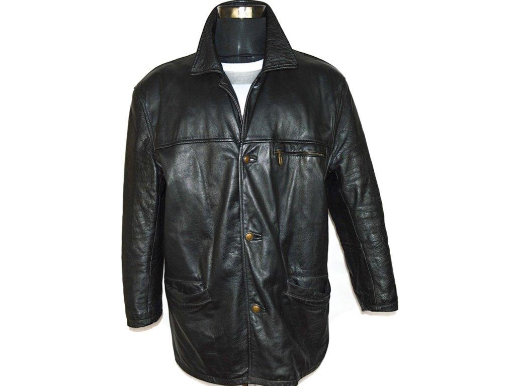 KOŽENÁ pánská černá měkká bunda SARDAR LONDON XL