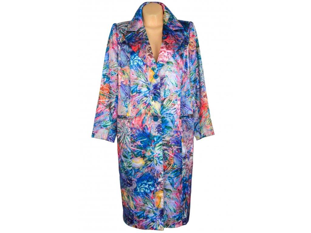 Extravagantní dámský barevný kabát XL