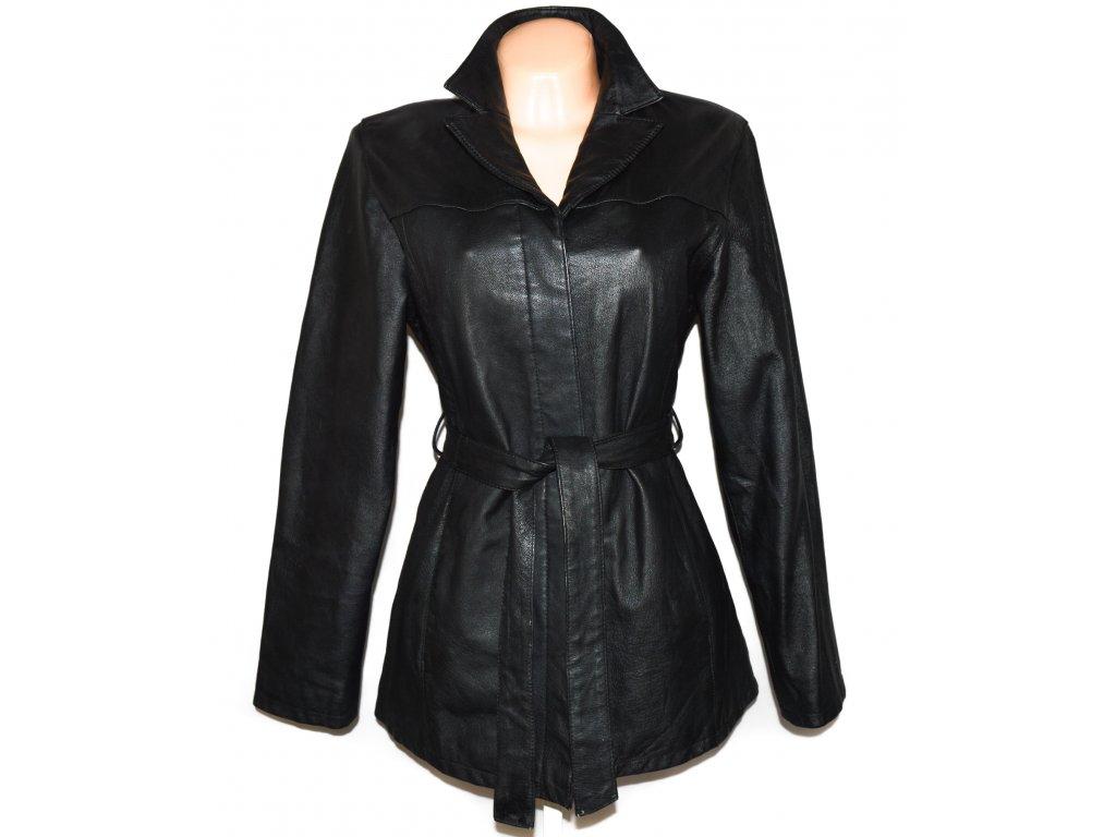 KOŽENÝ dámský černý měkký kabát NEW LOOK L