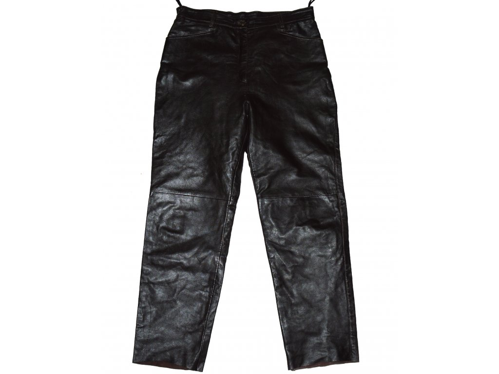 KOŽENÉ dámské měkké černé kalhoty JOY 44kal