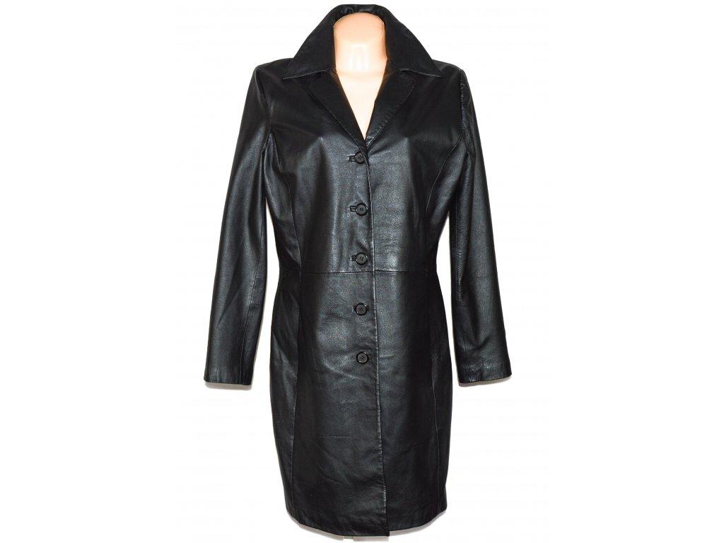 KOŽENÝ dámský černý měkký kabát GINA MARIOLANO XL
