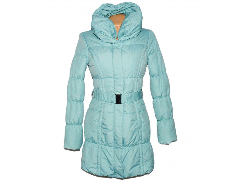 Dámský prošívaný mint kabát s páskem a límcem ORSAY 36