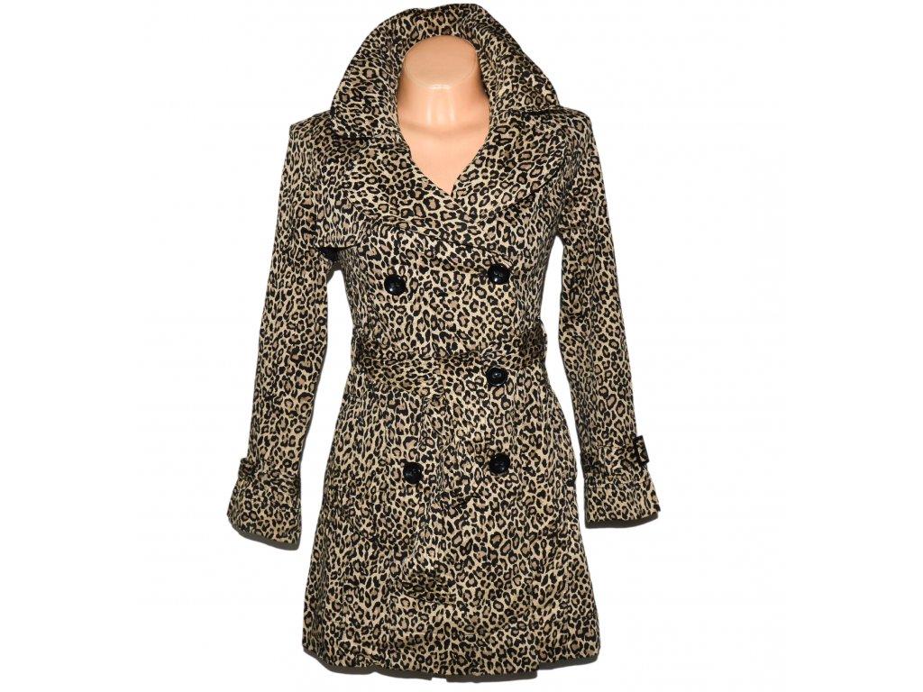 Bavlněný dámský leopardí kabát s páskem NEW LOOK 8/36