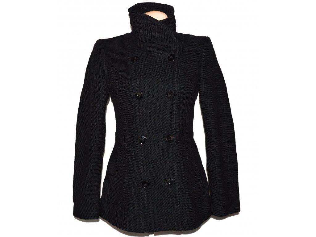 Vlněný (90%) dámský černý kabát (vlna,kašmír) REISS S