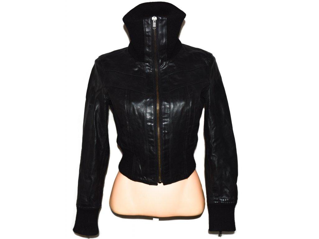 KOŽENÁ dámská černá bunda NEW LOOK