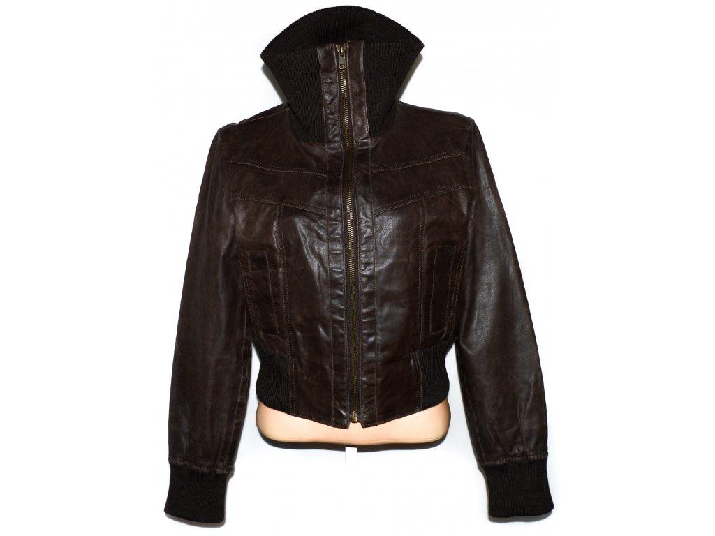 KOŽENÁ dámská hnědá bunda NEW LOOK XL