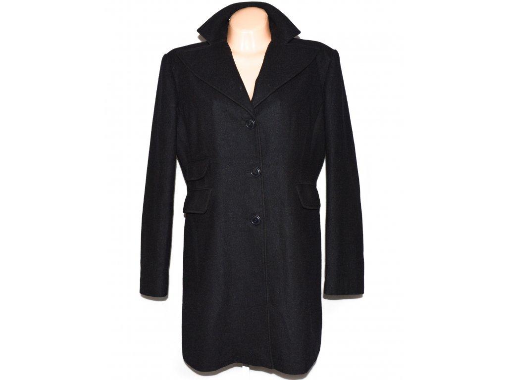 Vlněný (70%) dámský černý kabát Niaman Woman XXL