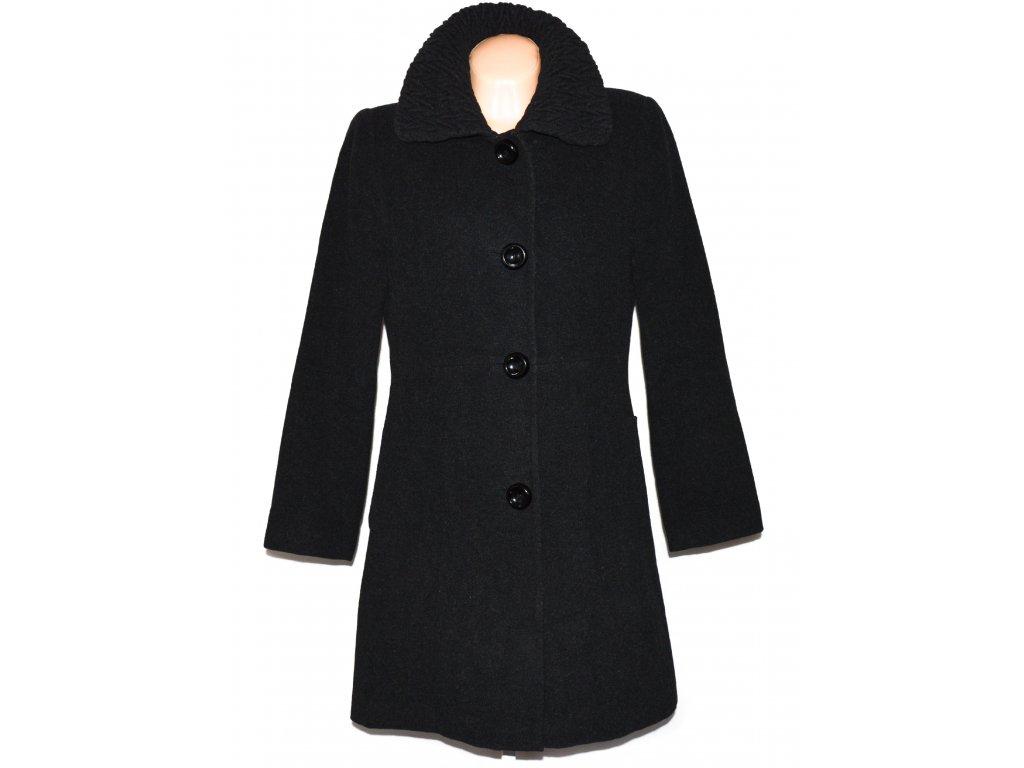 Vlněný dámský šedočerný kabát XL