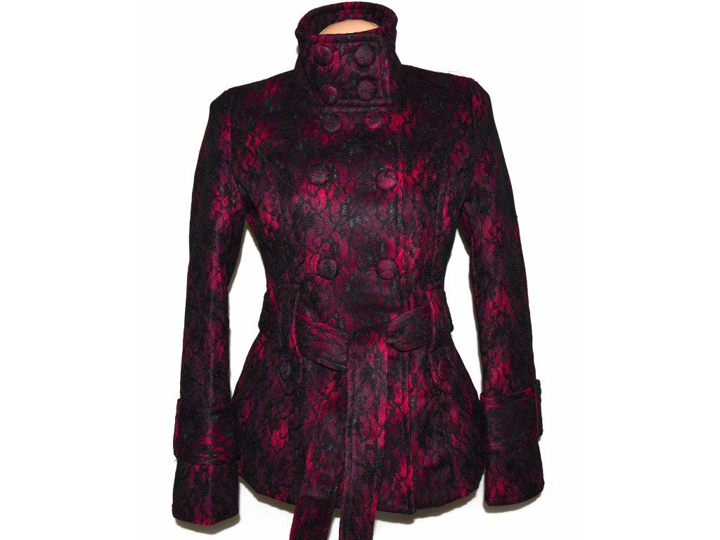 Dámský krajkový kabát s páskem Dy Design M