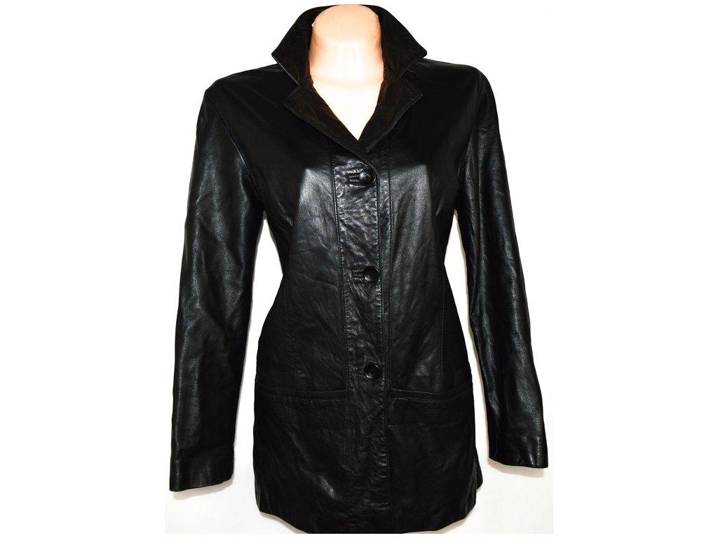 KOŽENÝ dámský černý měkký kabát Planet Euro L