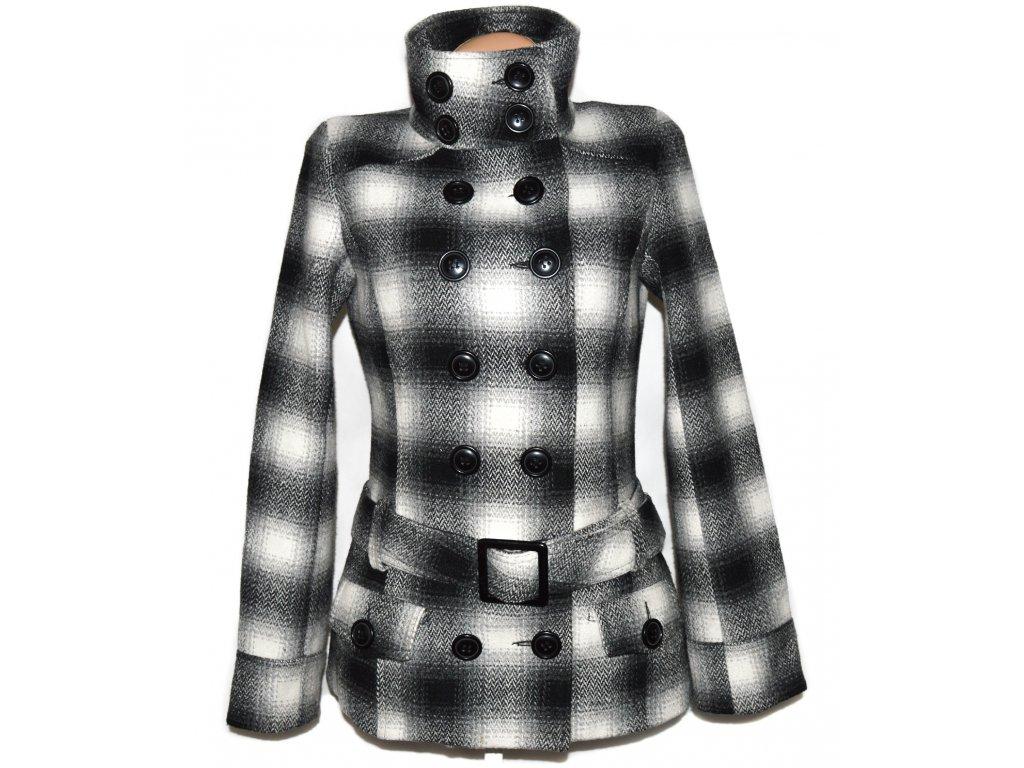 Dámský černobílý kabát s páskem ORSAY S/M