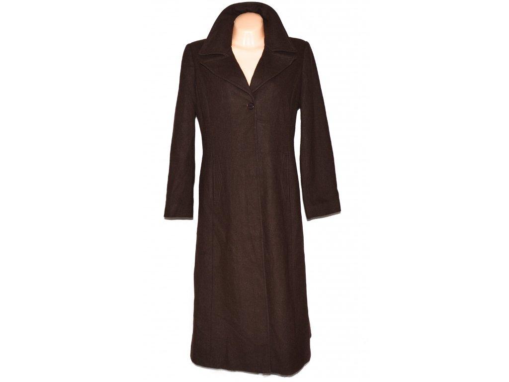 Vlněný dámský dlouhý čokoládový kabát Klass Coll. XL/XXL