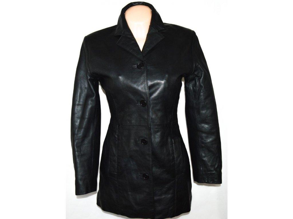 KOŽENÝ dámský měkký černý kabát Keenan Leather S