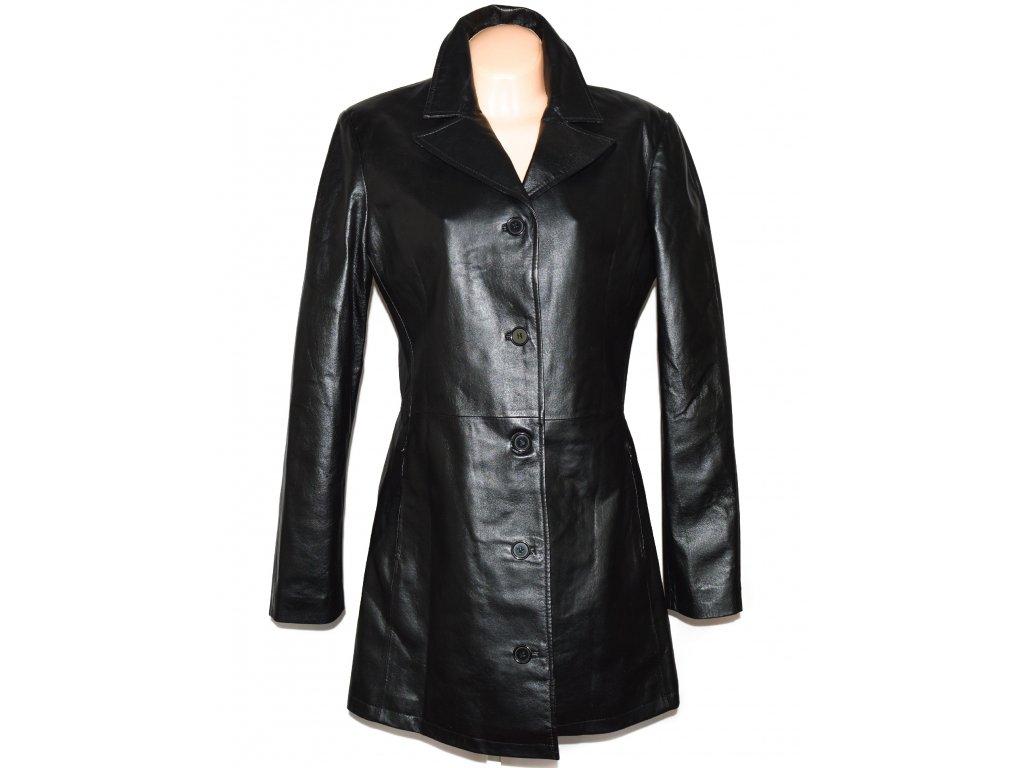 KOŽENÝ dámský černý měkký kabát L/XL