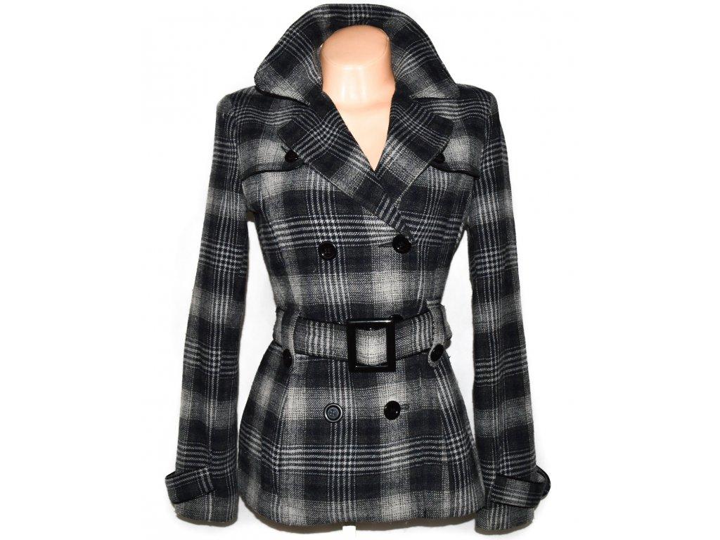 Vlněný dámský kabát s páskem ORSAY S, L