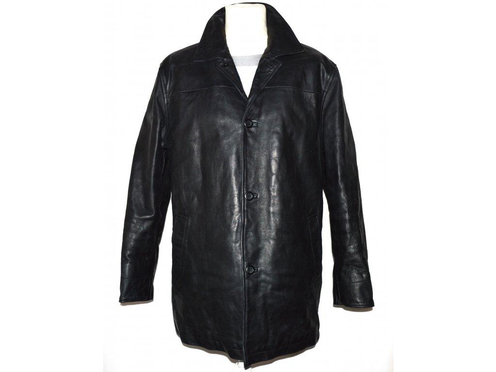 KOŽENÁ pánská černá měkká zateplená bunda GAP L