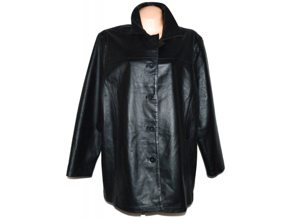 KOŽENÝ dámský černý kabát BERKERTEX