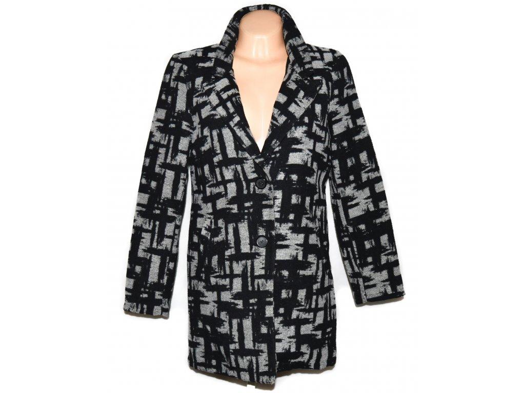 Dámský šedočerný vzorovaný kabát Vanilla L
