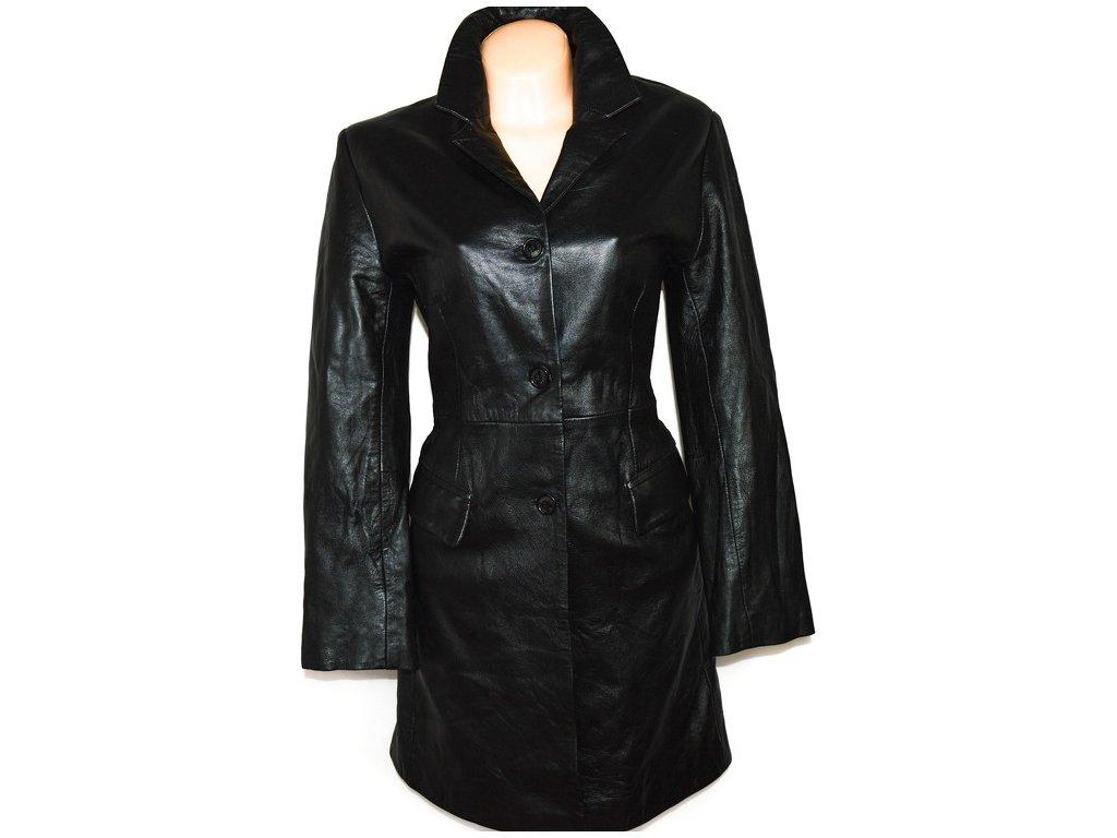 KOŽENÝ dámský černý měkký kabát TEODEM LONDON L
