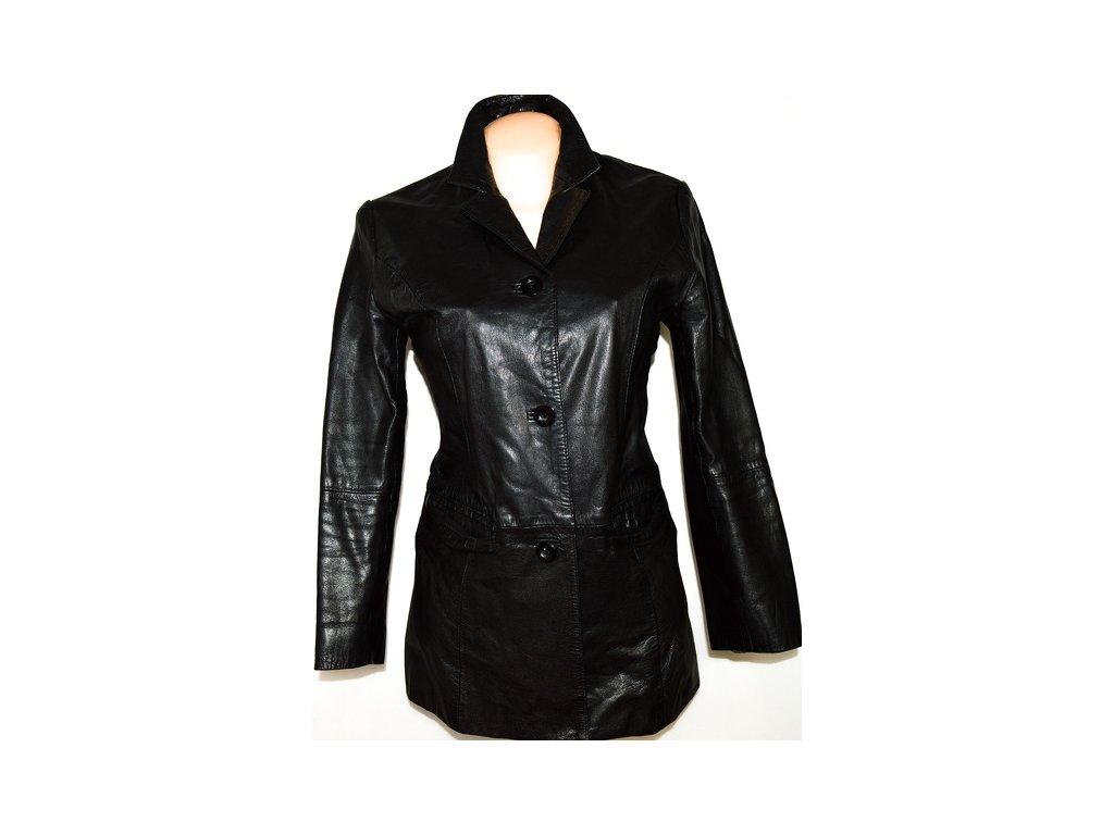 KOŽENÝ dámský černý měkký kabát Modern Classics Li