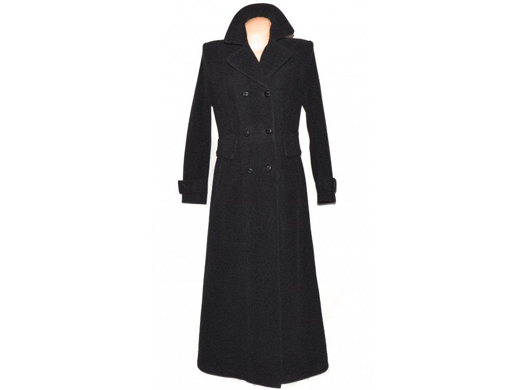 Vlněný (70%) dámský dlouhý šedý kabát (vlna, kašmír) 38