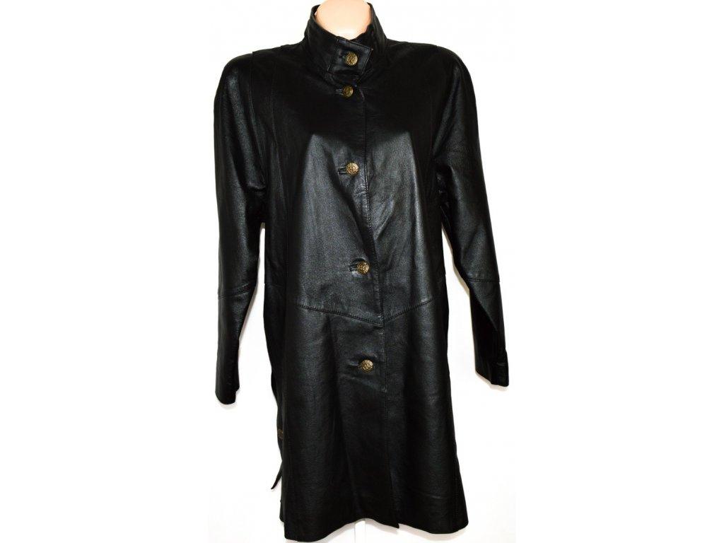KOŽENÝ dámský černý kabát MILAN LEATHER XXL