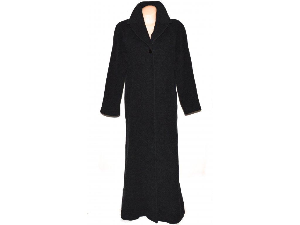 Vlněný (70%) dámský dlouhý šedočerný kabát Tatiana (vlna, kašmír) 42