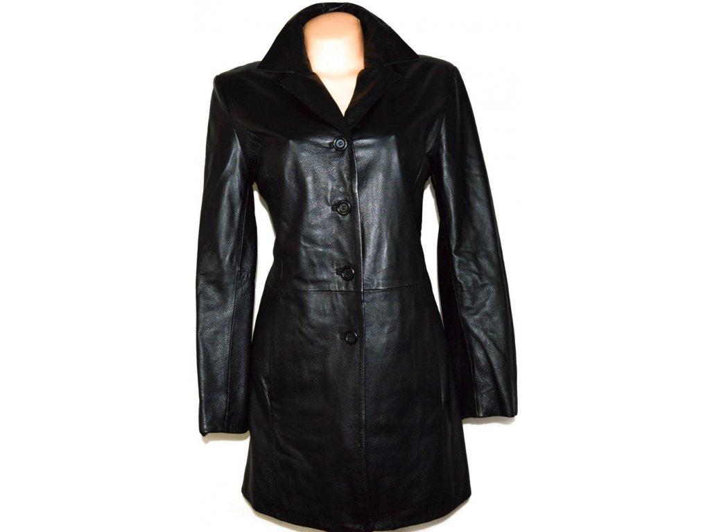 KOŽENÝ dámský černý měkký kabát vel. L