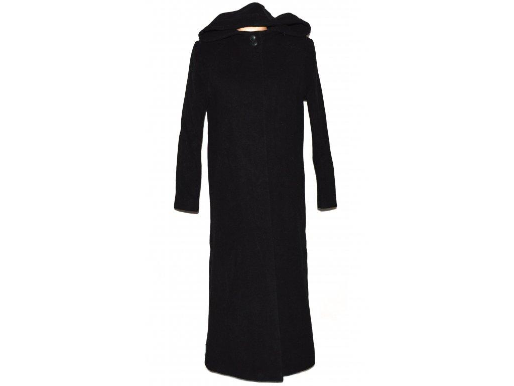 Vlněný (70%) dámský šedočerný dlouhý kabát Lantea (vlna, kašmír) 38